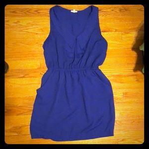 Blue flowy dress